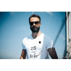 TEE SHIRT HOMME BLANC M/C BE 00 NOT